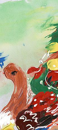 抽象油画 油画背景墙 玄关壁画