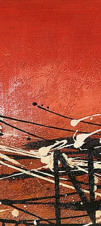国外抽象油画 玄关画