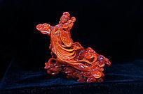 红珊瑚雕洛神赋雕件