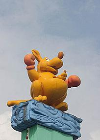 卡通袋鼠雕像