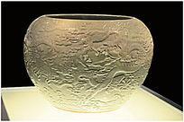 汝窑浮雕瓷罐