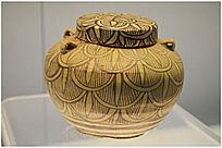 隋朝时期羽纹瓷罐