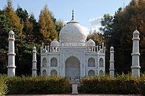 印度泰姬陵正面微缩景观