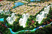 别墅地产楼房模型