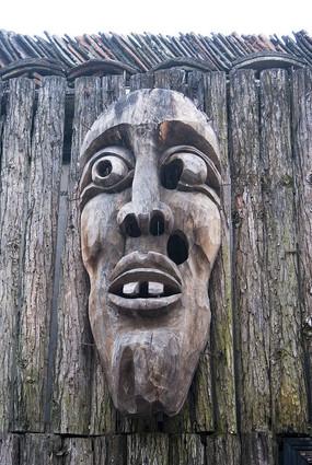 木雕人物面部表情
