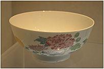 清代五彩花卉纹碗