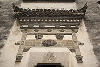 西递门楼浮雕
