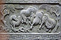 古代浮雕石雕图案