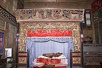 古代木雕床