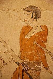 忻州九原岗北朝墓壁画年轻男子