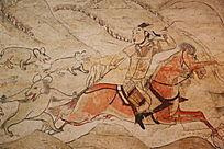 忻州九原岗北朝墓壁画人妖大战
