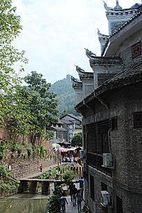 凤凰古城特色建筑摄影