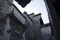 西递徽州古建筑墙