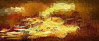 抽象油画背景墙壁画