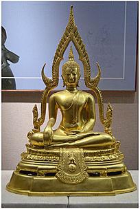 鎏金印度佛像
