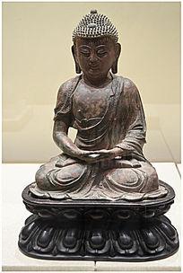 明代鎏金释迦牟尼佛像