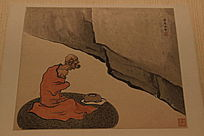 清代任熊老僧人画像