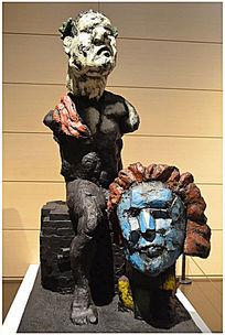 狮面艺术雕塑