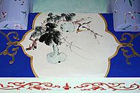 长廊彩绘葫芦小鸟