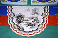 长廊彩绘江南山水