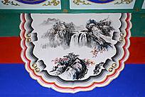 长廊彩绘山水图