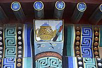 古建彩绘玉壶画轴