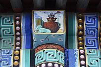 古建彩绘玉器古瓶