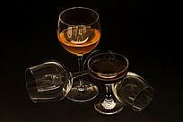 红酒杯摆拍