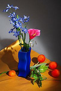 静物之花与花瓶