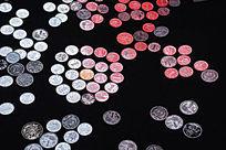 影棚拍摄硬币