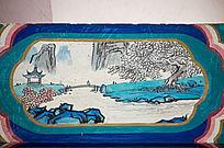长廊山水亭子彩绘