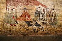东汉彩绘壁画宴会