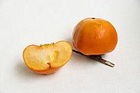 橘色柿子好