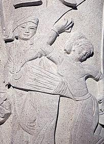 石刻浮雕民族舞蹈