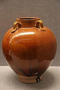 唐代黄釉四系瓷罐