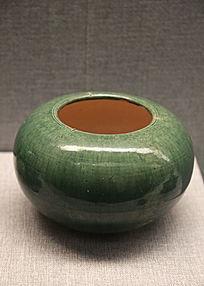 唐代蓝釉瓷罐