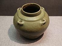 西晋青釉四系瓷罐