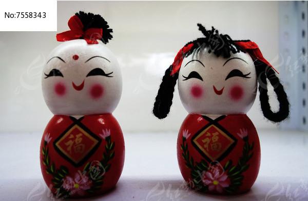 中国元素的儿童造型摆件图片