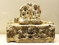 白石释迦多宝佛立像