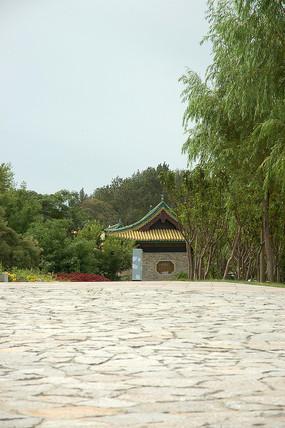 北戴河鸽子窝公园园区内景观