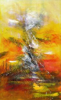 抽象画 玄关壁画 现代简约 装饰画