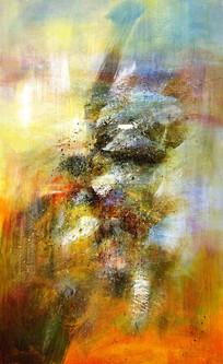 抽象画 玄关壁画 现代简约装饰画