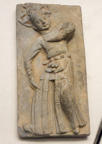 浮雕舞蹈人物砖