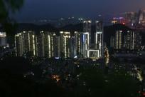 俯览城市夜景