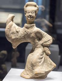 汉红陶舞蹈俑