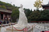 华清池杨贵妃汉白玉雕塑像