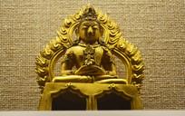 火焰纹装饰的铜佛像-佛像