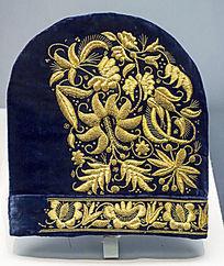 金花纹女帽