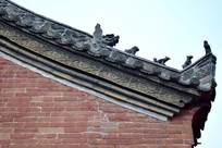 青瓦房砖雕摄影-古建筑摄影