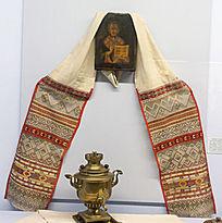 圣尼古拉像和毛巾
